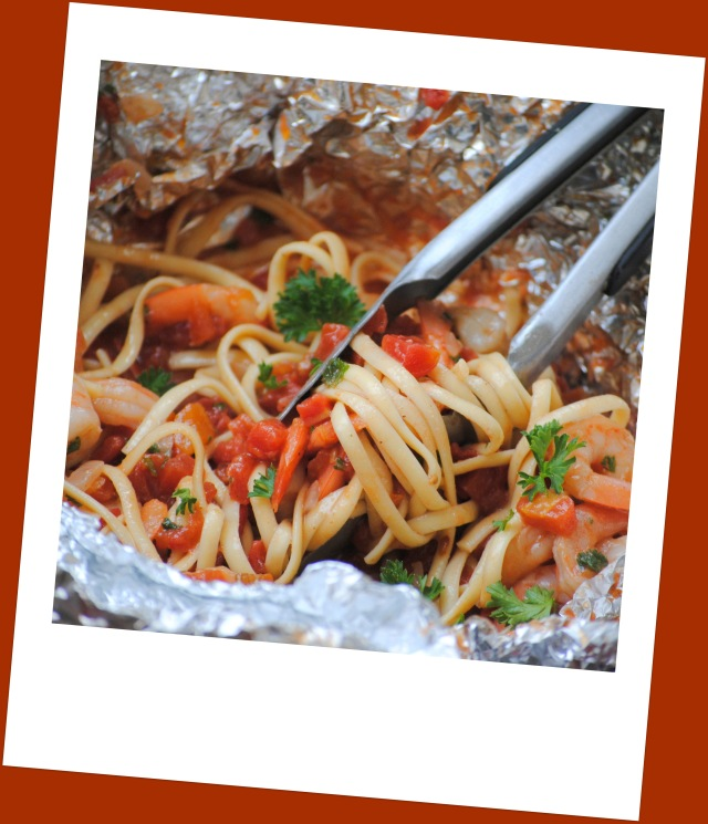 pasta in a foil package to be simple and delicious